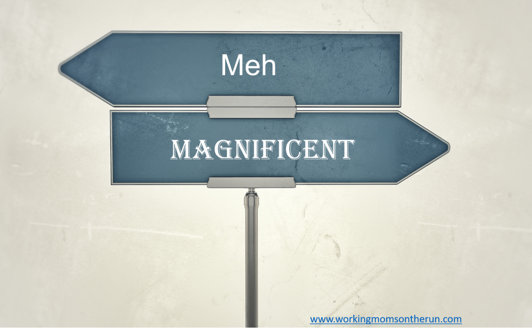 Difference between meh and magnificent